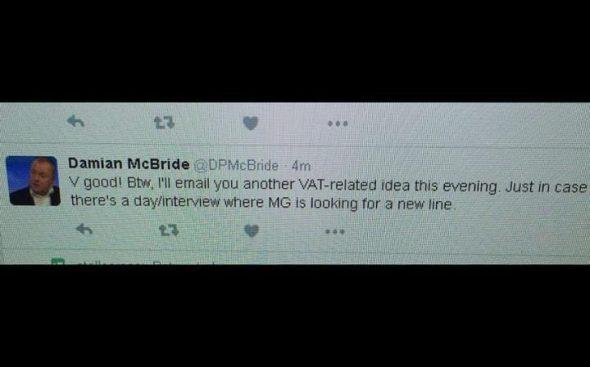 McBride tweet